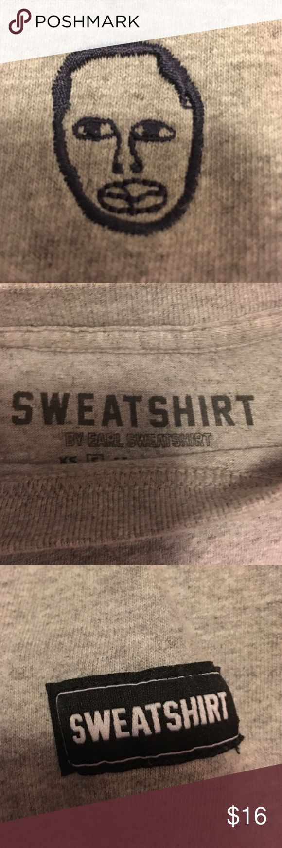 Earl Sweatshirt shirt Grey tee-shirt with blue Earl logo on front. Zumiez Tops Tees - Short Sleeve