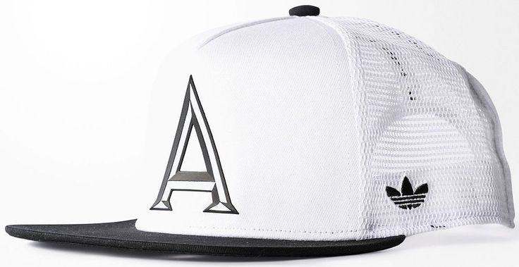 ADIDAS TRUCKER CAP B&W White-Black snapback trefoil logo hip hop hat NEW | eBay