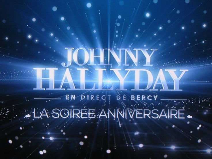 Concert Johnny Hallyday sur TF1 le 15 juin 2013 à Bercy Anniversaire 70 ...