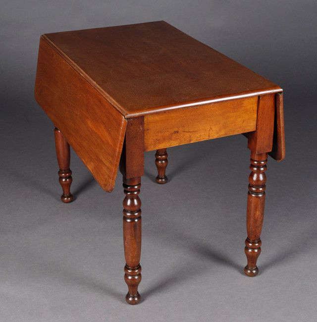 Original Englischer Wangentisch Mahagoni Viktorianisch Um 1850
