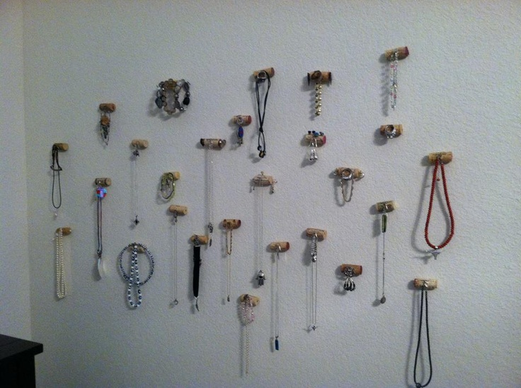 Corks, jewelry and a blank wall - what else was I do to?