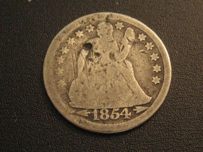 1854 US DIME WITH ARROWS-HAS ERROR ON REVERSE-$.99 START ON EBAY