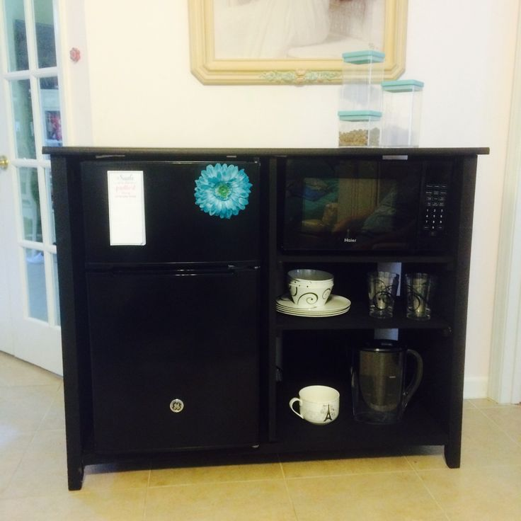 My Daughters Grade School Teacher Made Her This Tv, Microwave, And Dorm  Fridge Stand Part 35