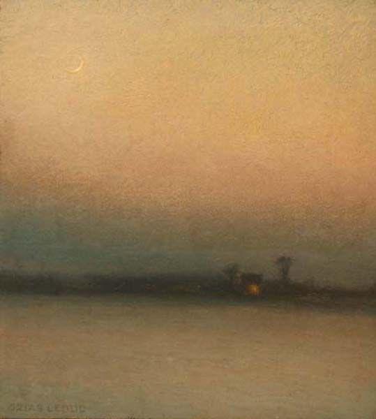 Ozias LEDUC - Paysage au crépuscule (c. 1910)