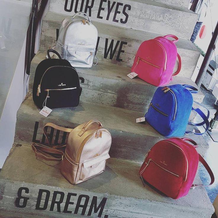 The #SANTORPE #minibackpacks just hit the store ❤❤❤