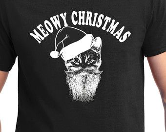 Cat lover Meowy Christmas, Ugly Sweater, Christmas fun, Cat Lady , Christmas Gift,ugly Christmas sweater, Christmas t shirt, crazy cat lady