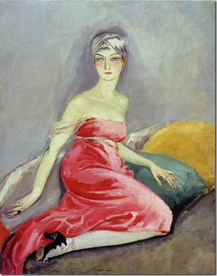 Kees van Dongen - Femme a la Robe Rouge