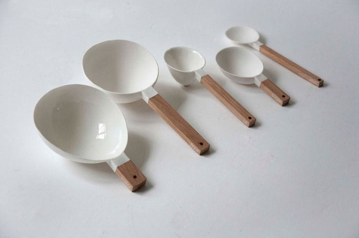Spoons for measuring the ideal amount of ingredients for making a loaf of bread. While I can understand the impracticalities (it won't nest, space issues, is it really needed/wanted/useful), from a design perspective, its beautiful! Created by a student of design...