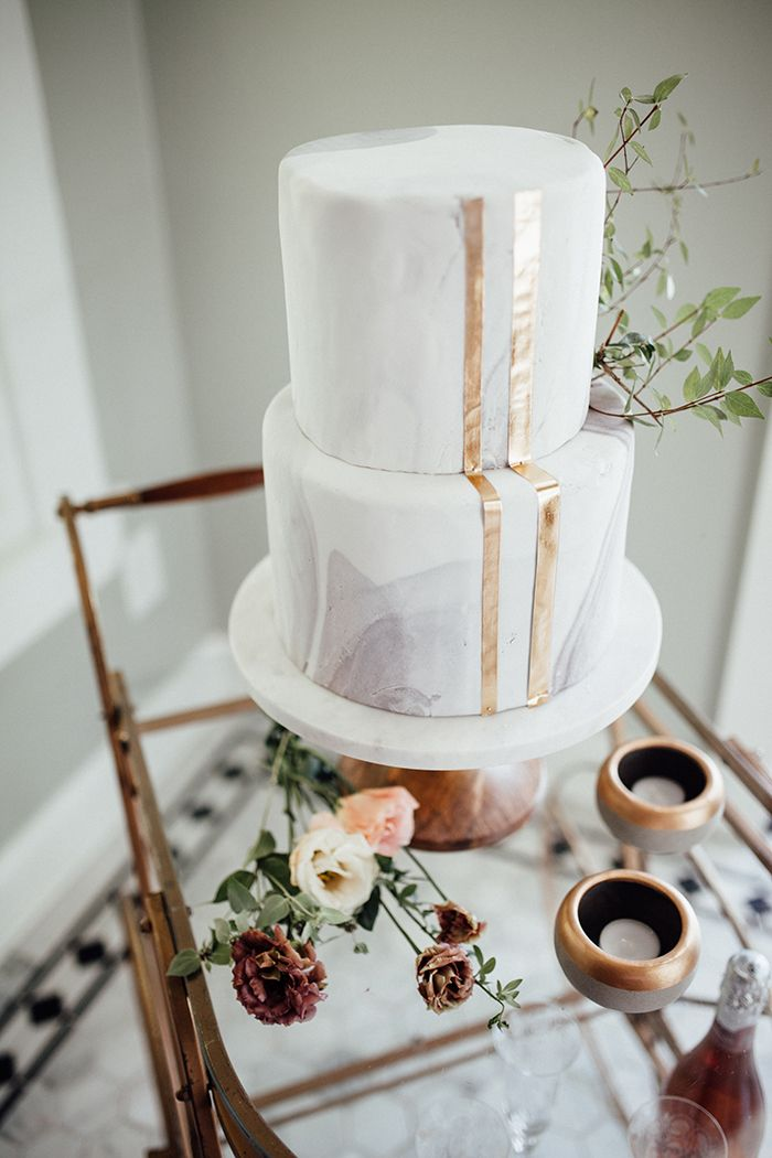 fall pastels and metallics in the woods gold wedding cakesgold