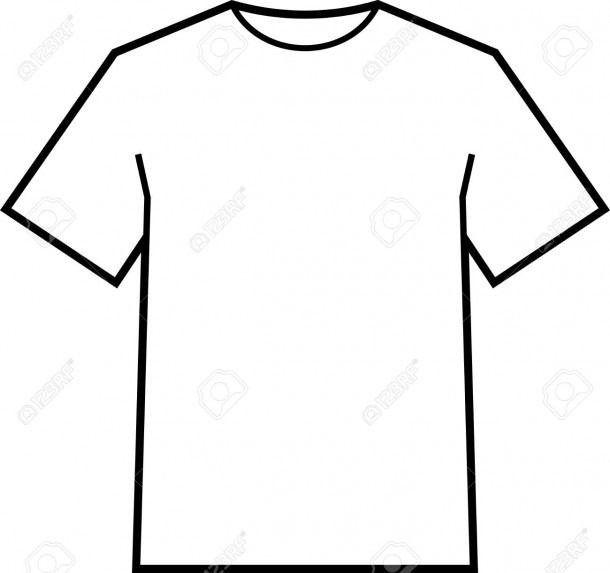 Blank T Shirt Coloring Sheet