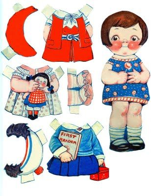 Free Printable - Vintage Paper Dolls - The Graphics Fairy