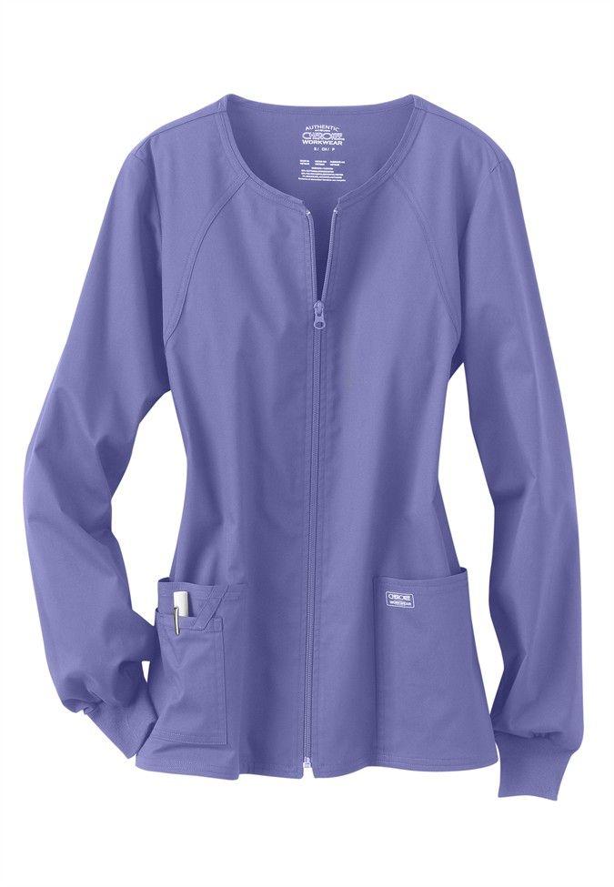 Cherokee Workwear Core Stretch Scrub Jacket Main Image