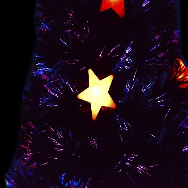 HOMCOM 5ft (150cm) Fibre Optic Artificial Christmas Tree w. Star Lights | aosom.co.uk