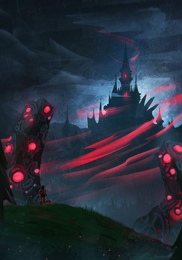 Legend Of Zelda Botw Hyrule Castle Calamity Ganon Art Zandraart Be Careful Link Legend Of Zelda Breath Zelda Art Calamity Ganon