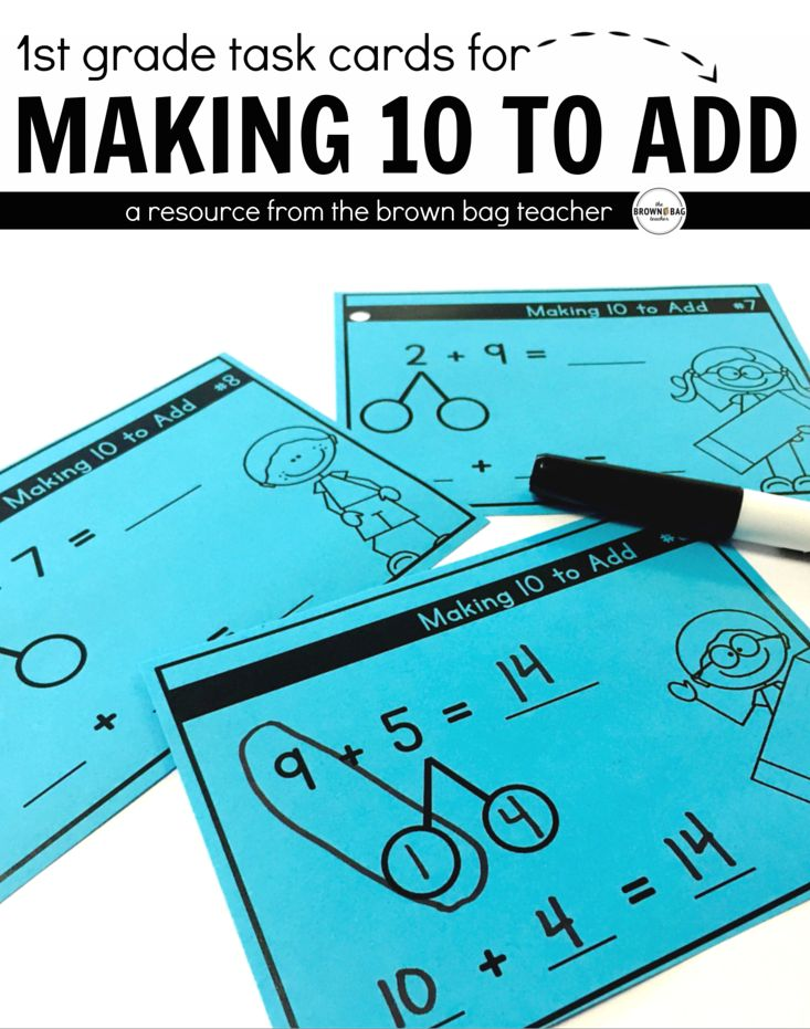 Perfect task cards for Making 10 to Add. Great for guided math, math centers, or interactive math notebooks! ($)