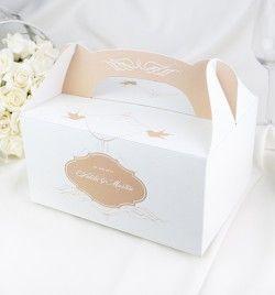 Výslužky, dortové krabice > Svatební krabička na výslužky Noblesse laté -