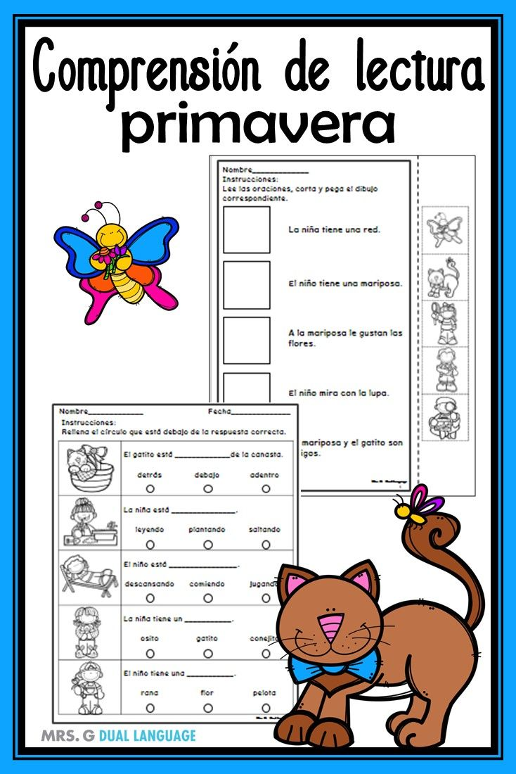 Comprension De Lectura Spanish Reading Comprehension Dual Language Classroom Learning Sight Words [ 1100 x 734 Pixel ]