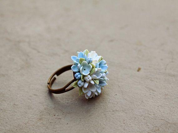 Lila Ring Blumen Ring Vintage Ring Schmuck bronze