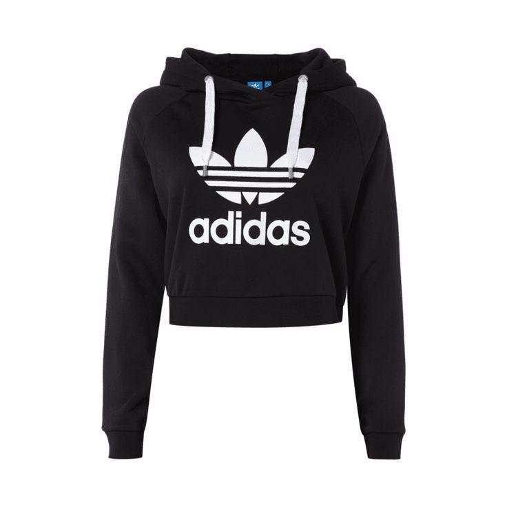 adidas #Originals # Crop Hoodie mit # Logo Print für Damen