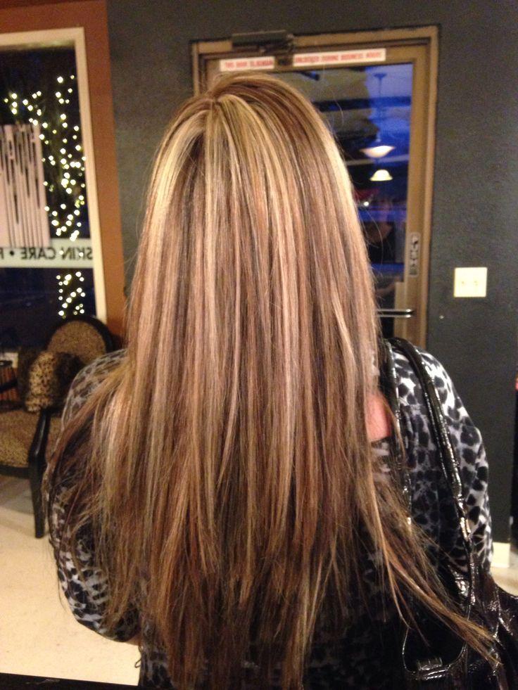 Dark Brown And Blonde Foils Hair Pinterest Blondes