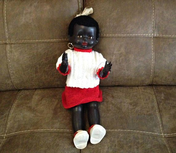 Vintage Black Kewpie Doll Pedigree Doll 1950 Black Pedigree