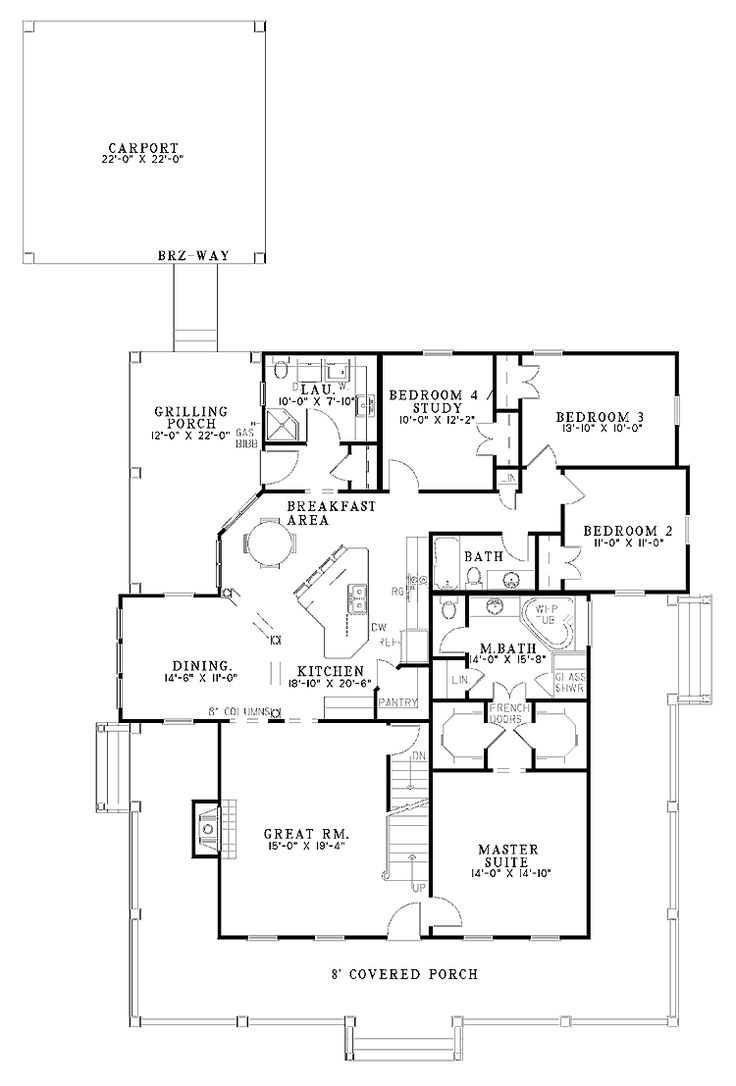 Perfect Floor Plan For Our Sq Ft Opt Bonus Game Room Open On Farmhouse House With 2039 Square Feet And 4 Bedrooms From Dream Home Source