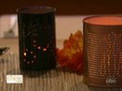 Check out Clinton's tip on how to create beautiful votive candles with left over soup or coffee, tin cans. #thechew