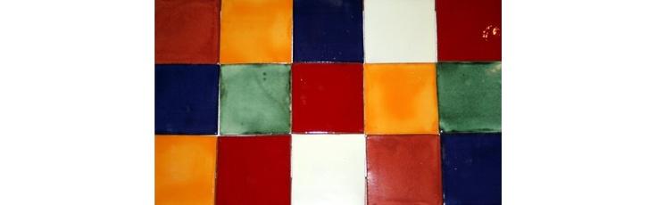 Carrelage mexicain azulejos unis
