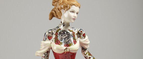 Tattooed Porcelain Dolls Offer An Alternative Way Of Viewing The Feminine Body