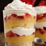 Simple Lemon-Strawberry Parfait. This is SO good! I had it with Madeira cake.