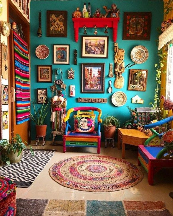 Mexican Interiors And Furniture Pieces Happy Almost Cinco De Mayo Design Asylum Blog By Kellie Smith Colorful Interior Design Bohemian Living Room Decor Colourful Living Room Decor