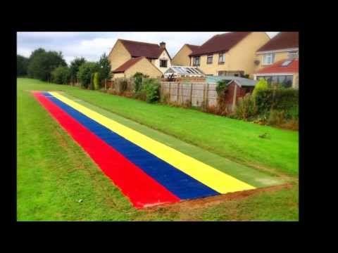 Synthetic Grass Long Jump Run-Up Renovation - YouTube