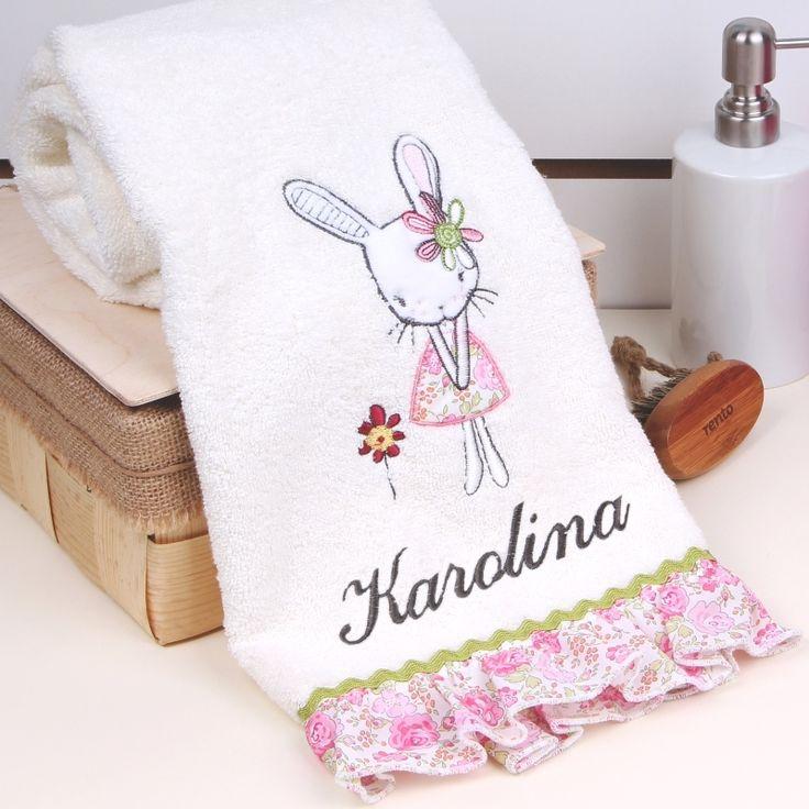 Personalizowany ręcznik z falbanką KRÓLICZEK