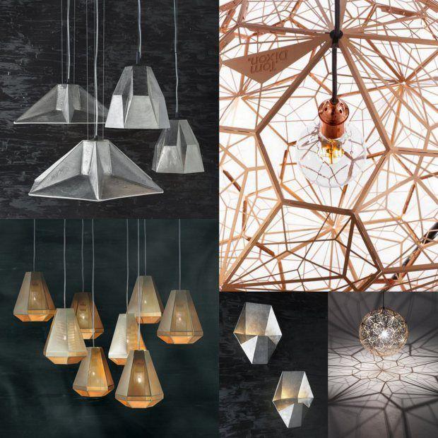 Tom Dixon's geometric lamps