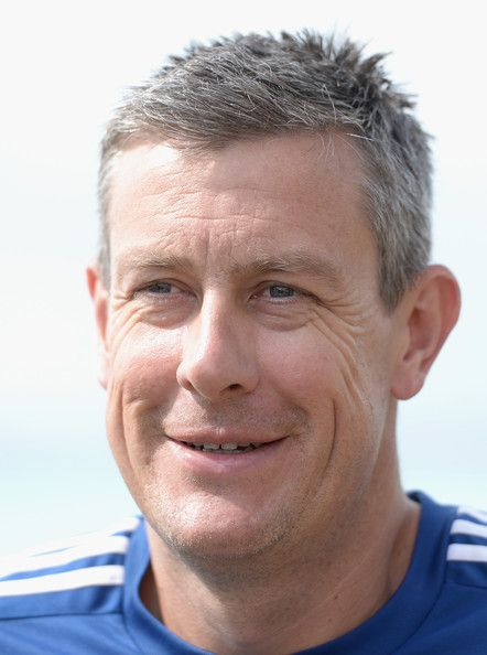 Ashley Giles Photos Photos - England coach Ashley Giles speaks the media during a press conference at the team hotel on March 12, 2014 in Bridgetown, Barbados. - England Cricket Nets