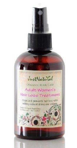 Adult Women's Hair Loss Treatment by JustNatural Organic Care. $39.99. This treatment invigorates your scalp and feeds hair follicles. Our Treatments are 100% Natural & Organic,free of any health risk.. Strong circulatory Natural stimulants, that increase circulation to hair follicles. It is natural for the hair to thin as one gets older. Usually around  the age of forty, the follicle size begins to narrow and the hair  becomes much thinner than in years previous.  Statisti...