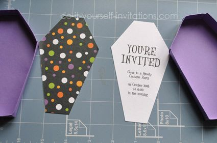 Free printable coffin box template with invitation printables or use box for favors or other fun things...