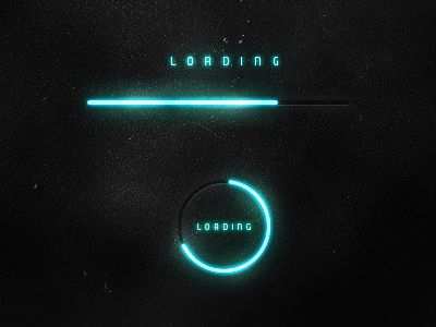 FUTURISTIC LOADING BARS AND COLOR PALETTE INSPIRED BY TRON