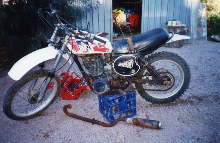1976 TT 500 Yamaha, before the rebuild.  Off Road Adventure Safaris.  www.tourcapeyork.com.au