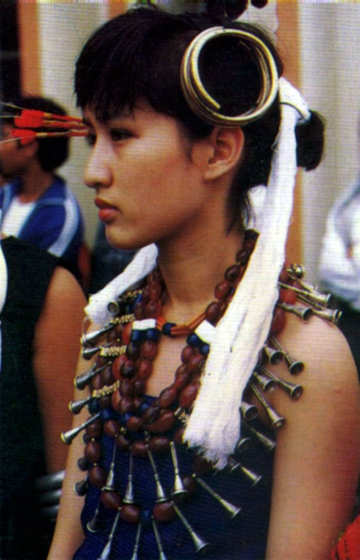 India | Angami Naga woman | Photographer unknwon
