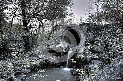 Sewer in khabarovsk russia long exposure
