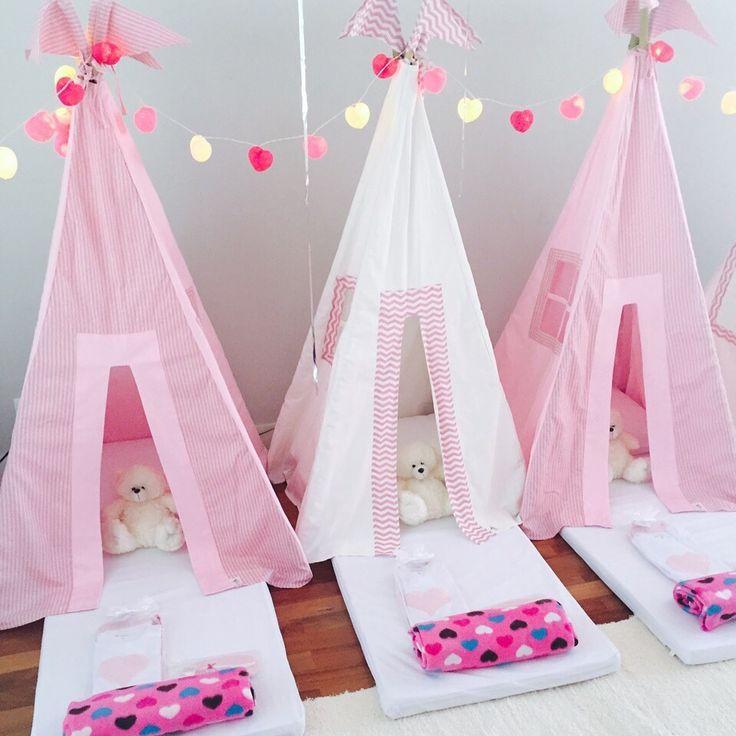 Festa do Pijama - Festa Infantil - Crazy for Tents #festadopijama#teepee#cabanas#sleepover#girls#onlygirls#BFF#magia#diversão#crazyfortents