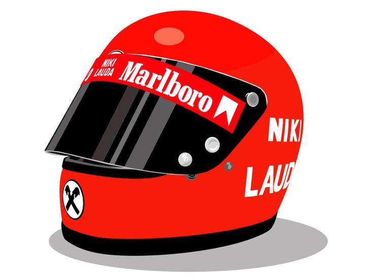 Illustrations: 1970s Formula 1 Helmets