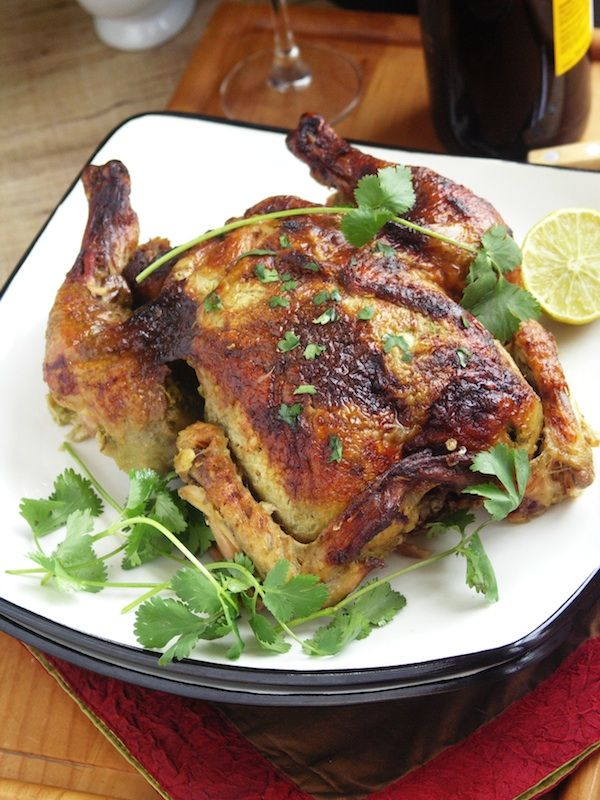 Cilantro Chicken: A simple roasted chicken with rich, deep flavors ...