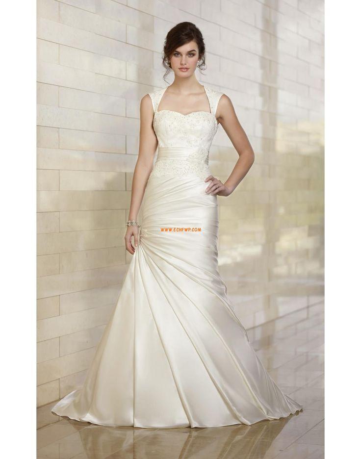 Square Taffeta Natural Wedding Dresses 2014