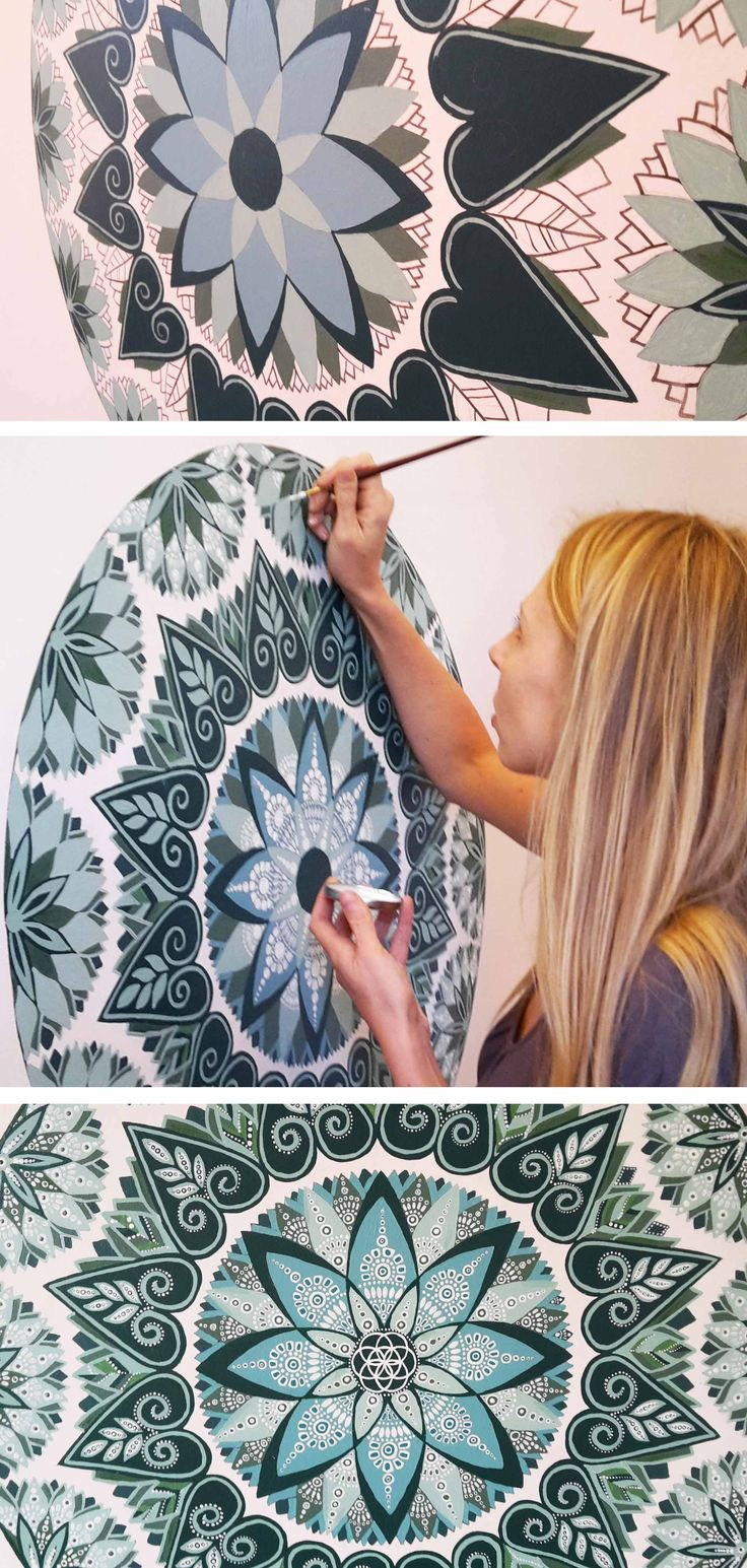 25 best ideas about mandala mural on pochoirs muraux 224 peindre pochoir mural and