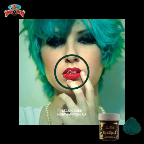 Love anything green? Check out this Alpine Green Hair Color by Directions at ruffnready.com.au #rockabilly #hairdye #haircolor #semiperm #Directions #RuffnReadyaus
