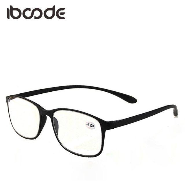 b41a4738ecdb iboode Big Frame Reading Glasses for Elderly Super Light Flexible Book Paper  Reading Eyeglasses Men Women Presbyopic Glass Review