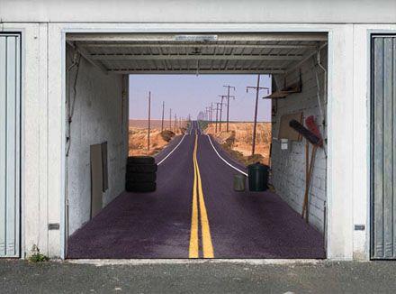 Impress Your Neighbors With a 3-D Fantasy Garage-Door Mural