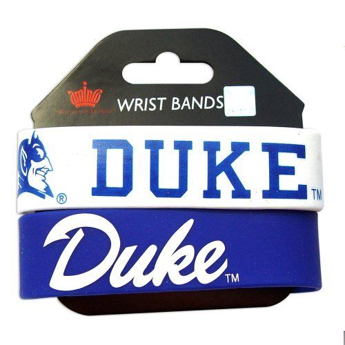 """Duke Blue Devils Rubber Wrist Band Set of 2 NCAA by aminco. $3.85. PERFECT STOCKING STUFFER. NCAA OFFICIALLY LICENSED. 8 INCHES AROUND  1 INCH WIDE SILICONE RUBBER  WRIST BAND BRACELE. 100% SATSFACTION GUARANTEED. ONE SIZE FITS MOST. Show your team spirit all day long! Great for any sports fan. Official product of NCAA. Set of 2 rubber wrist bands. They have a nice, deep lettering and wide, thick band. Elastic band is approx. 1"""" wide and 8"""" round. 2 colors & 2 designs. Weig..."""